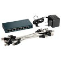 REPARTITEUR INFORMATIQUE SWITCH 8 PORTS + SUPPORT + CORDONS ..DEST