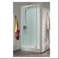 CABINE KINEPRIME GLASS 80 NICHE 2 PORTES HAUT THERMOSTATIQUE