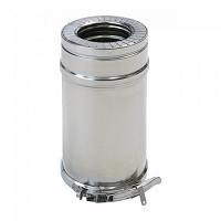 TUYAU ISOLE DUOTEN inox 316/304 Ø 130/180 L 1000 mm +BS*