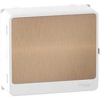 Resi9 - habillage + porte touch bronze 13M - panneau de ctrl - bloc d