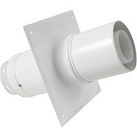 TERMINAL VERTICAL INOX/PVC Ø80/125 OCRE