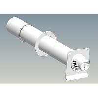 TERMINAL HORIZONTAL COND. PP/PVC Ø  80/125 lg. 800 mm  *