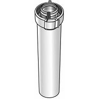LONGUEUR DROITE 2000 mm GAZ Ø80/125 ALU/PVC