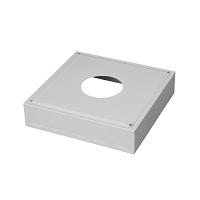 CACHE CONDUIT INOX 450 x 450 x Ht 100 Ø 200 BLANC