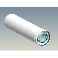 CONDUIT INT. NON ISOLES INOX/GALVA BLANC 500MM