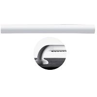 PROFIL ALLRECOUVERT t PVC structuré ergonomique, Ø 33 mm,