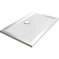 RECEVEUR SPACE MINERAL S 180X90 ANTIDERAPANT BLANC