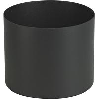 RACCORD EMAIL NOIR MAT Ø 150  FF LONG 12 cm