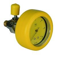 MANO GAZ 0 -   60 mbar + ROBINET M G 1/4 - POUR CAPACITÉ TAMPON