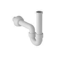 Siphon en tube coudé Geberit pour lavabo, sortie horizontale: d40mm G
