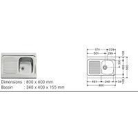 RECEVEUR A POSER ULYSSE 80X80X7 CM BLC