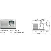 RECEVEUR A POSER ULYSSE 90X90X7 CM BLC