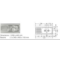 RECEVEUR A POSER ULYSSE 100X80 X 7 CM BLC
