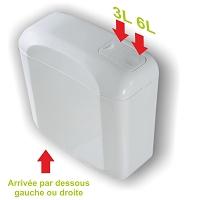 RESERVOIR ATTENANT BI-FLO ARRIVEE DESSOUS  DR ou G