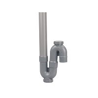 SIPHON MAL SIMPLE VERTICAL PVC - K