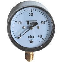 MANO GAZ Ø100 0 À   60 mbar - Ø1/2 RADIAL
