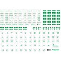 Resi9 - lot de 10 feuilles A4 de symboles autocollants en plastique t