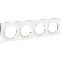 ODACE STYL PLAQUE 4POSTES  VERT. / HORI. 71mm BLANCHE