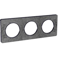 ODACE TOUCH  PLAQUE ANTHRACITE PIERRE GALET 1 POSTE