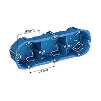 BOITE PLACO MULTIFIX  A COLLERETTE 3POSTES Entraxe 71mm P.39mm