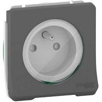MUREVA STYL PC  2P+T -COMPOSABLE -IP55-IK08 -  GRIS ANTHRACITE
