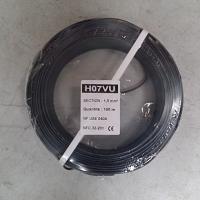 FIL RIGIDE HO7V-U 1,5mm²  NOIR  C.100M.   (01225015)