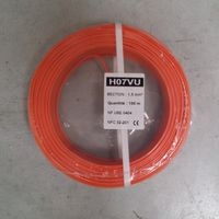 FIL RIGIDE HO7V-U 1,5mm²  ORANGE  C.100M.   (01225013)