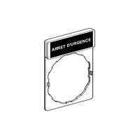 PORTE ETIQUETTE ARRET URGENCE   (ZBY 2130)