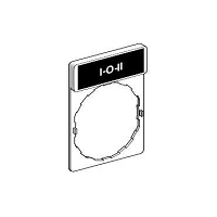 PORTE ETIQUETTE COMPLET D.22mm  I-0-II   (ZBY2186)