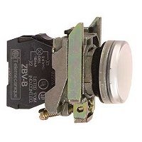 VOYANT LUMINEUX ROND IP 66 BLANC LED INTEGREE 240 V