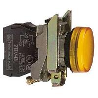 VOYANT LUMINEUX ROND IP 66 ORANGE LED INTEGREE 240 V