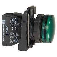 VOYANT LUMINEUX VERT COMPLET D.22mm 230V A DEL INTEGRE  (XB5AVM4)