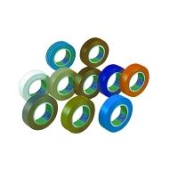 10 RLX ADHESIF PVC 15/100MM  10X15  MULTITEINTES (6022)