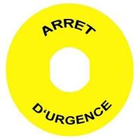 ETIQUETTE ARRET URGENCE   (ZBY 9130)